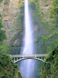 Multnomah Falls, Colombia River Gorge, Oregon, USA Photographic Print by Walter Bibikow