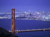 Golden Gate-broen, San Francisco, California, USA Fotografisk trykk av Walter Bibikow