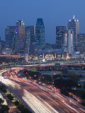 Skyline and Stemmons Freeway, Dallas, Texas, USA Photographic Print by Walter Bibikow