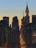 42nd Street and Chrysler Bldg, New York, USA Photographic Print by Walter Bibikow
