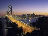 Oakland Bay Bridge, San Francisco, California, USA Fotografisk tryk af Walter Bibikow