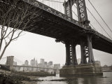 Manhattan Bridge and Brooklyn Bridge, New York City, USA Photographic Print by Alan Copson