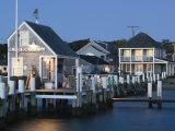 Vineyard Haven Harbour, Martha's Vineyard, Massachusetts, USA Fotografisk tryk af Walter Bibikow