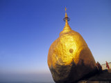 Golden Rock, Kyaiktiyo, Burma Photographic Print by Peter Adams