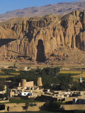 Cliffs with Empty Niche Where the Famous Carved Buddha Once Stood, Afghanistan, Bamiyan Province, Photographic Print by Jane Sweeney