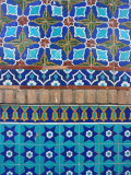 Detail of Tilework, Shrine of Hazrat Ali, Mazar-I-Sharif, Afghanistan Fotografiskt tryck av Jane Sweeney