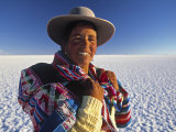 Portrait of a Woman, Bolivia Photographic Print by Peter Adams