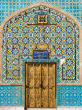 Tiling Around Door, Shrine of Hazrat Ali, Mazar-I-Sharif, Afghanistan Photographic Print by Jane Sweeney