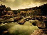 Water Flowing through Rocky Riverbed Photographic Print by Jan Lakey