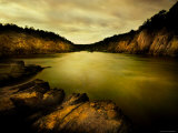 Golden Waters Cliffside Photographic Print by Jan Lakey