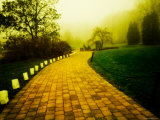 Golden Brick Road Lined with Luminaries Photographic Print by Jan Lakey