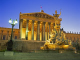 Athena Fountain and Parliament Building, Vienna, Austria Photographic Print by Gavin Hellier