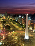 Obelisko, Avenida 9 de Julio, Buenos Aires, Argentina Photographic Print by Peter Adams
