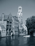 Belfry and Canal, Bruges, Belgium Photographic Print by Gavin Hellier