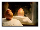 Pear against Framed Mirror Photographic Print by Mia Friedrich