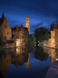 Belfort and River Dijver, Bruges, Flanders, Belgium Photographic Print by Alan Copson