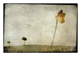 Oversized Butterfly Chained to Ground Photographic Print by Mia Friedrich