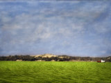 Impressionistic Harvest Field and Truck Photographic Print by Robert Cattan