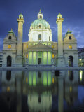 St. Charles Church, Karlsplatz, Vienna, Austria Photographic Print by Jon Arnold