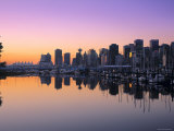 Coal Harbour, Vancouver, British Columbia, Canada Photographic Print by Walter Bibikow