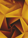 Golden Geometric Pentagons Photographic Print by Tim Kahane