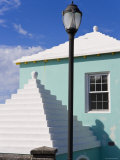 Traditional White Stone Roofs on Colourful Bermuda Houses Photographic Print by Gavin Hellier