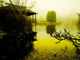 Japanese Gazebo on Deck over Water Photographic Print by Jan Lakey