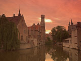 Belfort and River Dijver, Bruges, Belgium Photographic Print by Alan Copson