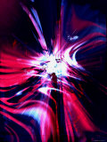 Abstract Red, Blue and Purple Lmina fotogrfica por Paul Cooklin