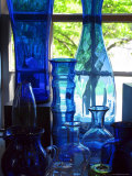 Shaker Blue Glass Photographic Print by Jody Miller