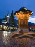 Sebilj, Bascarsija District, Sarajevo, Bosnia and Herzegovina Photographic Print by Gavin Hellier