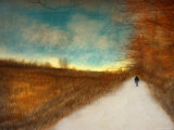 Lonely Autumn Path Photographic Print by Robert Cattan
