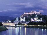 Alt Stadt and Hohensalzburg Fortress, Salzburg, Austria Photographic Print by Jon Arnold