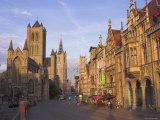 Sint Niklaaskerk and Sint Baafs Kathedraal Ghent, East Flanders, Belgium Photographic Print by Alan Copson