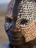 Karo Tribesman, Lower Omo Valley, Ethiopia Photographic Print by Gavin Hellier