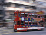 Tram, Hong Kong, China Photographic Print by Rex Butcher