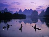 Cormorant Fishermen, Li River, Yangshuo, Guangxi, China Photographic Print by James Montgomery Flagg