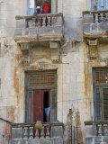 Balconies, Havana, Cuba Photographic Print by Peter Adams