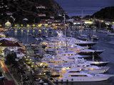 Yacht Harbour, Gustavia, St. Barts, French West Indes Photographic Print by Walter Bibikow