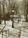Steps to Montmartre, Paris, France Lmina fotogrfica por Walter Bibikow