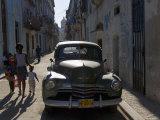1950s American Car, Havana, Cuba Fotografie-Druck von Peter Adams