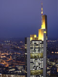 Commerzbank Building from Helaba Building, Frankfurt, Hessen, Germany Photographic Print by Alan Copson