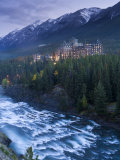 Banff Springs Hotel from Surprise Point and Bow River, Banff National Park, Alberta, Canada Photographic Print by Gavin Hellier