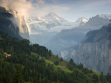Wengen and Lauterbrunnen Valley, Berner Oberland, Switzerland Photographic Print by Doug Pearson