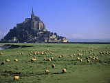 Mont St Michel, Manche, Normandy, France Photographie par Walter Bibikow