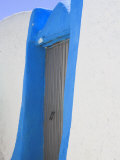 Blue Painted Doorway to House in Old Town, Harar, Ethiopia Photographic Print by Jane Sweeney