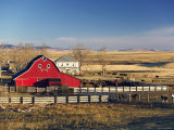 Red Barn, Pincher Creek, Alberta, Canada Photographic Print by Walter Bibikow