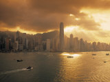 Hong Kong Skyline from Kowloon, China Photographic Print by Jon Arnold