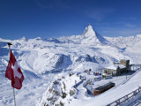 Gornergrat Mountain, Zermatt, Valais, Switzerland Photographie par Walter Bibikow