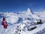 Gornergrat Mountain, Zermatt, Valais, Switzerland Photographie par Walter Bibikow